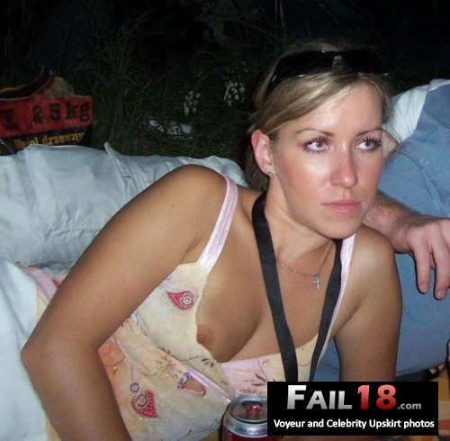 That red eye really goes nicely with her pink nipple?