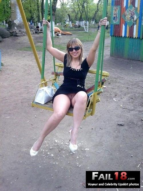 My wife loves swinging?on swings