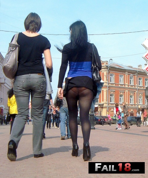 Panties under tights?and a little gust of wind?nice?