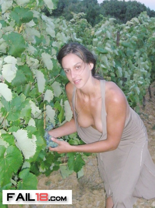She liked to look at the grapes?I liked to look at her melons?