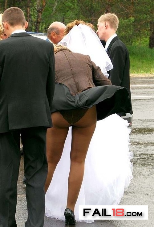 At least the bride escaped the wind?