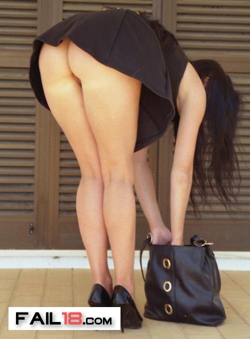 So she found a black handbag, and black shows to go with her bla