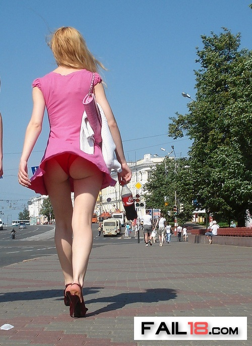 Red panties to match her Coke bottle?now THAT is dedication?!!!