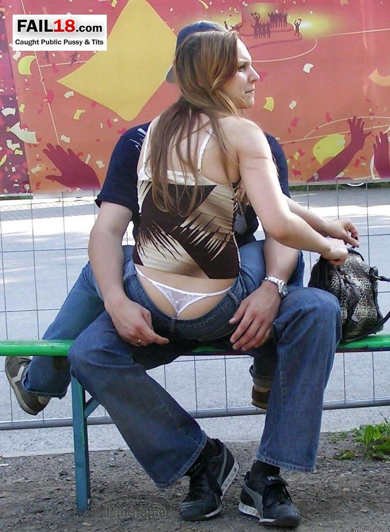 caught public pussy and tits voyeur